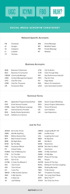 Don't Get Social Media Lingo? 75 of the Most Common Acronyms Explained – Paid Social Media Jobs Social Media Cheat Sheet, Social Media List, Social Media Trends, Marketing Online, Marketing Digital, Internet Marketing, Social Media Marketing, Marketing Ideas, Mobile Marketing