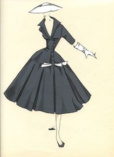 Vintage Illustration from French Couture Fashion House of Jeanne Lanvin