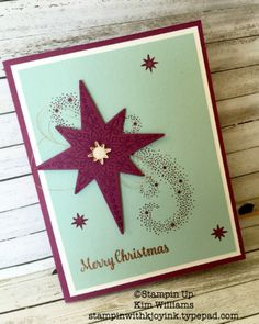 Stampin Up Star of Light stamp set. New Stampin Up Holiday Catalog 2016. Kim…