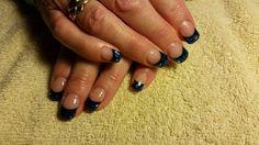 Gnarly Navy and Confetti with Amore Ultima Gel #nail #nails #nailart