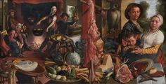 Pieter Aertsen : The Fat Kitchen. An Allegory (Statens Museum for Kunst - Copenhagen (Denmark - Copenhagen)) ピーテル・アールツェン Illusion, Renaissance Paintings, Medieval Paintings, Dutch Painters, Art Database, Oil Painting Reproductions, Exotic Pets, Exotic Animals, Art Google