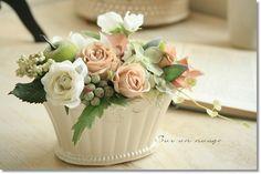 フラワーアレンジ【sn27】花器付きSurunnuage/造花アートフラワーインテリアアーティフィシャルフラワーお祝い