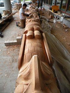 Native American Totem, Native American Artwork, Native American History, American Symbols, American Indians, Totem Pole Art, Tiki Totem, Totem Poles, Totems