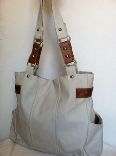 Genuine  leather purse tote bag handbag handmade katty by Fgalaze, $89.99