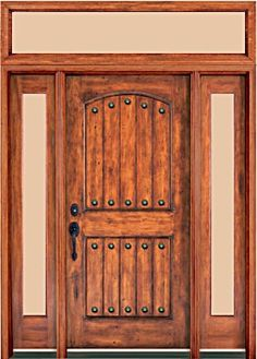 Rustic Knotty Alder entry doors with Sidelights clearance priced ...