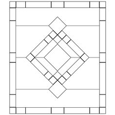 Free Beveled Glass Panel Pattern - How To Use Stock Bevels Use grid paper to lay out center bevel design. Frame design with straight line bevels. Stained Glass Patterns, Mosaic Patterns, Stained Glass Art, Pattern Art, Free Pattern, Pattern Designs, Window Panels, Glass Panels, Delphi Glass