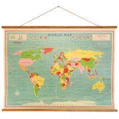 idée cadeau carte du monde vintage pour urne?