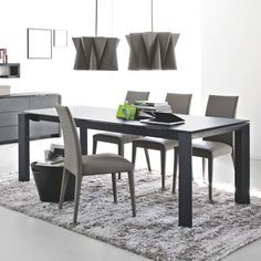 Calligaris Omnia Rectangular Glass Extension Table | YLiving