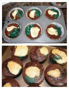army party   camo cupcakes (BEFORE and AFTER)