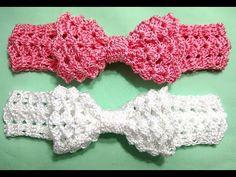 Crochet Bows, Crochet Headband Pattern, Crochet Baby Shoes, Crochet Baby Clothes, Newborn Crochet, Crochet Flowers, Knit Crochet, Crochet Patterns, Baby Girl Dress Patterns