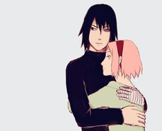 "Sweet hug of Sasuke and Sakura :)  (Sarada: ""Wait! I want one too!)   Naruto   Uchiha"