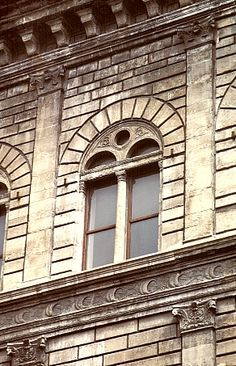 Florence, Italy - Palazzo Rucellai - architect Leon Battista Alberti - detail - begun c. 1457