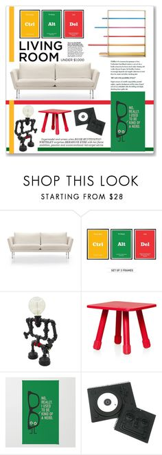 """""""Vince ideal living room"""" by annatiblog ❤ liked on Polyvore featuring interior, interiors, interior design, home, home decor, interior decorating, Vitra, Fatboy, MollaSpace and Whiteley"""