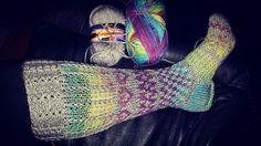 Knitted socks strikka sokker