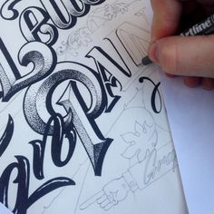 Hand-lettered Artwork by  Carl Fredrik Angell
