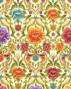 Grand Majolica - Victorian Pottery Garden - Cream/Gold