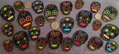 10 Pc Retro Day of Dead Sugar Skulls No Sew Iron On by TDFT