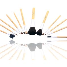 FASH Studio Quality 2012 Series Cosmetic Brush Set with Faux Leather Pouch, Goat and Nylon, 12-Piece. #beauty, #tool, #makeup, #brushes