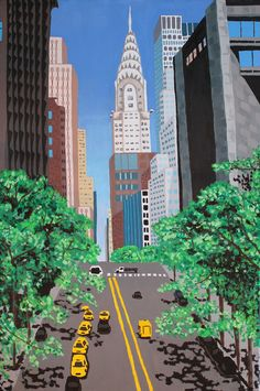Chrysler Building by Maria Pelton 61 x 41cm Acrylics on canvas. Copyright©2013 Maria Pelton, All rights reserved.