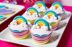 Adorable Rainbow Cupcakes features at The TomKat Studio