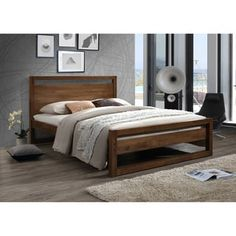 Mid-Century Brown Wood Platform Bed by Baxton Studio | Overstock.com Shopping - The Best Deals on Beds