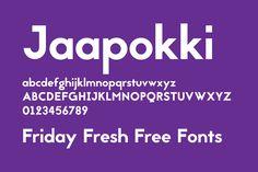 Friday Fresh Free Fonts - Metros, Althea, Jaapokki