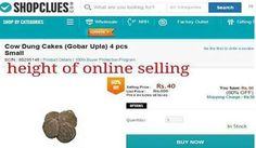 OMG! Shopclues.com selling cow dung cakes
