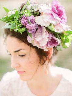 Свадебные аксессуары из живых цветов