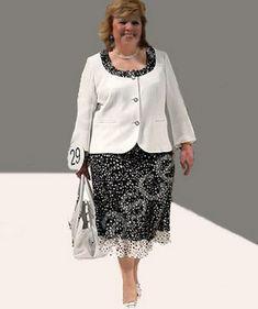 Stylové oblečení pro plnoštíhlé ženy: šaty, kabáty, sukně, obleky, kalhoty a jiné věci - One Lady