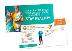 YMCA January Membership Campaign – Direct Mail Postcard – Swim