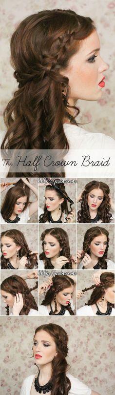 Krok po kroku - kręcone włosy i warkocz w jednym! Super pomysł na fryz!