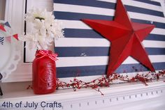 4th of july decorating ideas | Craftaholics Anonymous® | 4th of July Mantel Decorations