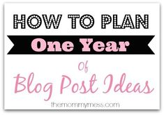 How to Plan One Year of Blog Post Ideas - The SITS Girls writing, writing ideas, creative writing ideas Blog Topics