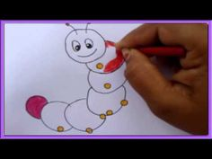 How to draw a caterpillar for children. - YouTube    *** done  ***