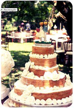 Bolo de noiva + bolo de rolo é tudo! I want!!! ❤