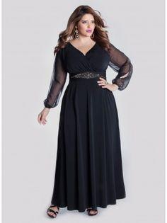 4c62f5a2cf0b Avelina Plus Size Gown - Plus Size Evening Dresses by IGIGI Plus Size Prom  Dresses,