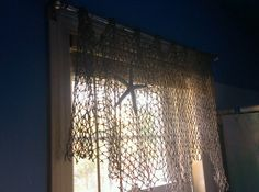 Fishing net as a curtain