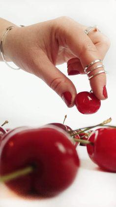 #mideeconcept #925sterlingsilver #handmadejewelry #jewelry #aesthetic #spring #cherries #red #contemporaryart  #contemporaryjewelry #rings Cherries, Contemporary Art, Handmade Jewelry, Minimalist, Fruit, Spring, Red, Maraschino Cherries, Cherry Fruit
