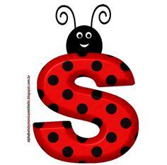 Printable Alphabet Letters, Alphabet Templates, Alphabet And Numbers, S Alphabet, Fancy Letters, Monogram Letters, Bug Cartoon, Alfabeto Animal, Childhood Images