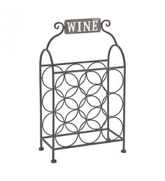 METAL BOTTLE HOLDER W_9 SECTIONS 32X16X55