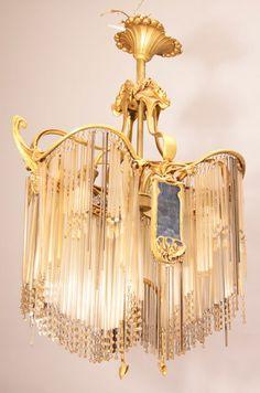 Hector guimard table lamp c 1900 10 art nouveau pieces art nouveau hector guimard 1816 1942 chandelier circa 1908 aloadofball Image collections