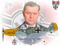 "The top ""Spitfire killer "" Oberst Josef ""Pips"" Priller . Priller was the most succesful Luftwaffe pilot in battles with Spitfires claiming at least 68 of them"