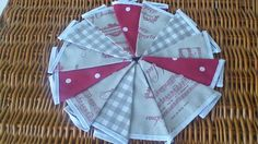 Handmade Christmas Bunting with Fryetts Vintage Clarke & Clarke Gingham Red Dot