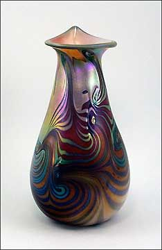 tom michael glass blowing | ... glass vase by Tom Michael. Contemporary art glass, modern glass art