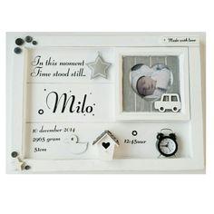 Het mooie geboortebord voor Milo! Heel veel plezier ervan!   Super leuk als herinnering voor je eigen kind, maar ook erg leuk om als kraamcadeau te geven!  Deze geboorteborden zijn ook te vinden in onze collectie op www.troetel.com   #troetelkidslifestyle #geboortelijst #geboortebord #kraamcadeau #cadeautip #newborn #handmade #interior #interieur #pregnant #mama  #baby #babyshower #girl #boy #kidslifestyle #gift #gifts #birth #kidsroom