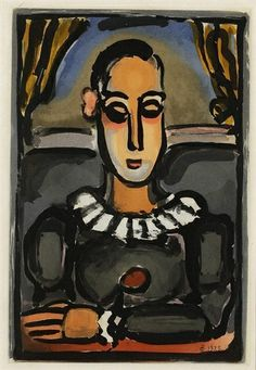 Georges Rouault, Pierrot Noir, from 'Cirque' (Chapon & Rouault 241)