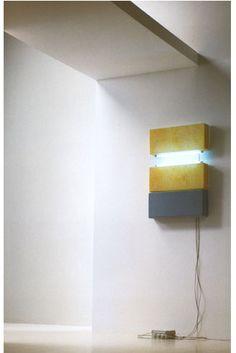 Momoli_SenzaTitolo_1998_Gomma_e_Neon_60x120cm Stencil Wall Art, Painting Patterns, Wall Lights, Neon, Interiors, Lighting, Furniture, Home Decor, Appliques