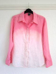 How to: Ombre bleach/dip dye shirt and jeans! (for a t-shirt & maybe not leave in bleach as long?)