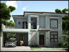 Modern house design 2012007 pinoy eplans modern house for Simple window designs for homes