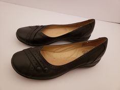 bcf1df554147c Strictly Comfort Womens Black Leather Slip-On Dress Shoes 9.5 M  fashion   clothing